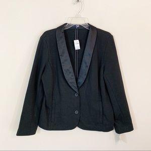 NWT Gap • Black Blazer Satin Lapels Size XL